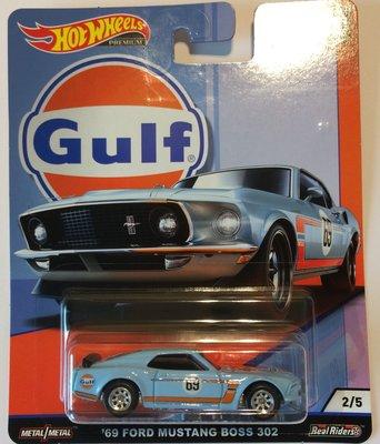 Hotwheels 1:64 Ford Mustang Boss 302 no69 blauw Gulf Series