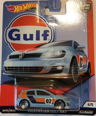 Hotwheels 1:64 Volkswagen Golf MK7 no2 Gulf Series