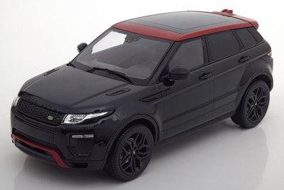 Kyosho 1:18 Land Rover Range Rover Evoque zwart rood in dealer verpakking