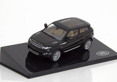 IXO 1:43 Range Rover Evoque zwart, dealer verpakking