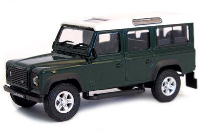 Cararama 1:43 Land Rover Defender 110 donkergroen met wit dak