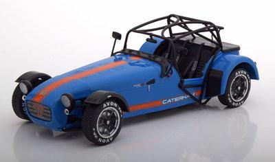 Solido 1:18 Caterham Seven Academy 2014 blauw oranje