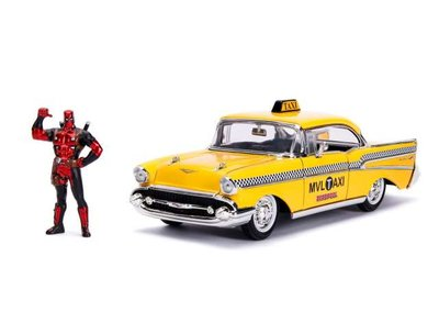 Jada 1:24 Deadpool Taxi met Figuur 2016 geel