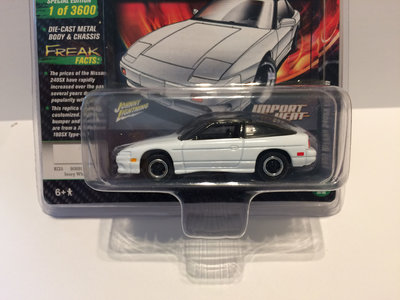 Johnny Lightning 1:64 Nissan 240SX Custom 1990 wit met zwarte dak, MiJo Exclusives