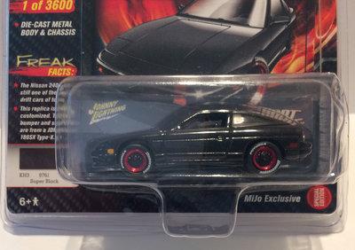 Johnny Lightning 1:64 Nissan 240SX Custom 1990 zwart, MiJo Exclusives