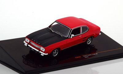 IXO 1:43 Ford Capri 1700 GT 1970 rood zwart