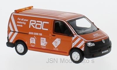 Oxford 1:76 Volkswagen T5 Van RAC oranje