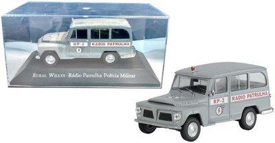 Atlas 1:43 Willys Rural Radio Patrulha Policia Militar grijs