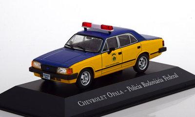 Atlas 1:43 Chevrolet Opala Policia Rodoviaria Federal geel blauw