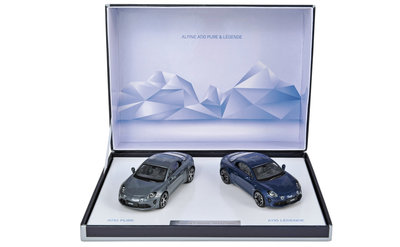 Norev 1:43 Coffret Alpine A110 Pure & Legende 2018, set 2 auto's