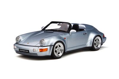 GT Spirit 1:18 PORSCHE 911 (964) SPEEDSTER TURBO LOOK Polar silver