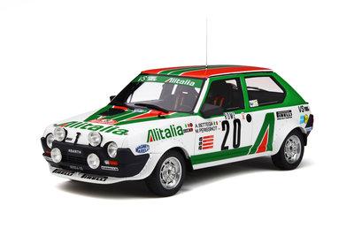 Otto Mobile 1:18 Fiat Ritmo Abarth Gr.2 Rallye Monte Carlo 1979 no 20 A.Bettega, oplage 1500 stuks