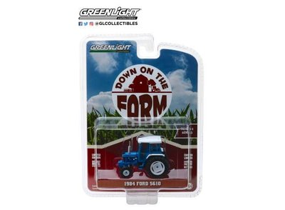 Greenlight 1:64 Ford 5610 blauw wit 1984 Down on The Farm Series 2