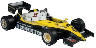Atlas 1:43 Renault RE40 F1 no 15 Prost 1983, in blister verpakking