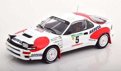 IXO 1:18 Toyota Celica GT ST165 No5 Schwarz Herz met Marlboro Decals Rally Portugal 1992