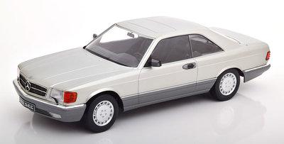 KK Scale 1:18 Mercedes 560 SEC C126 zilver 1985