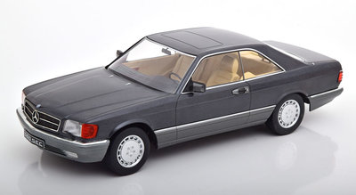KK Scale 1:18 Mercedes 560 SEC C126 metallic-antraciet 1985