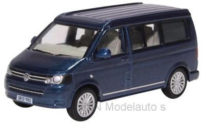 Oxford 1:76 Volkswagen T5 California Camper mettallic blauw