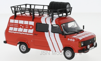 IXO 1:43 Ford Transit MKII Rally Assistance R-E-D 1985