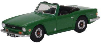 Oxford 1:76 Triumph TR6 Cabriolet groen