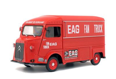 Solido 1:18 Citroen HY EAG 1969 rood