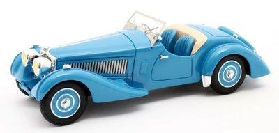 Matrix 1:43 Bugatti T57S Corsica Roadster Malcolm Campbell no 57531 blue 1937
