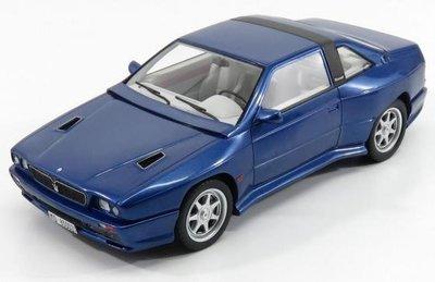Kess 1:18 Maserati Shamal blauw 1989, lim. 75 pcs