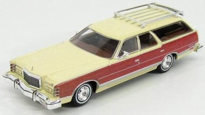 Kess 1:43 Mercury Colony Park yellow 1978