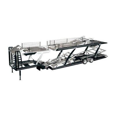 NZG 1:18 Lohr Autotransporter zwart, 110 cm lang, 23 cm hoog, diecast