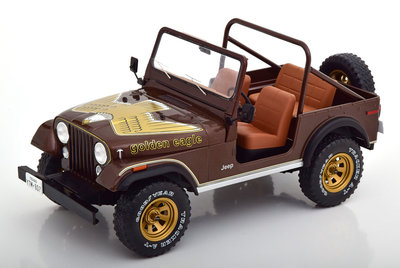 MCG 1:18 Jeep CJ-7 Golden Eagle 1976 donkerbruin metallic
