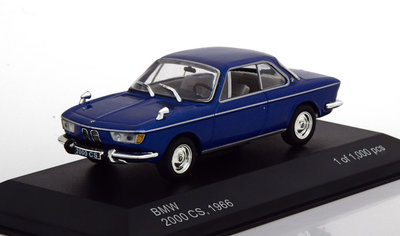 Whitebox 1:43 BMW 2000 CS 1966 blauw metallic
