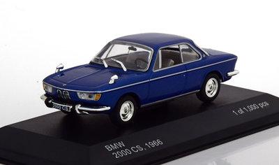 Whitebox 1:43 BMW 2000 CS 1966 blauw metallic