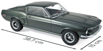 Norev 1:12 Ford Mustang Fastback 1968 - Satin Green metallic,