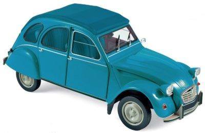 Norev 1:18 Citroën 2CV 6 Club 1982 - Lagune Blue, deuren ... kunnen open
