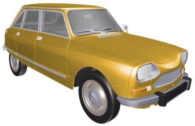 Norev 1:18 Citroën Ami 8 Club 1969 - Bouton d'Or Yellow, gesloten model