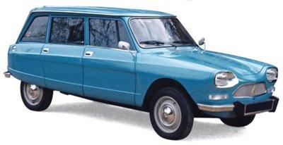 Norev 1:18 Citroën Ami 8 Break 1975 - Pétrel Blue