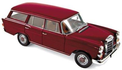 Norev 1:18 Mercedes-Benz 200 Universal 1966 - Dark Red, deuren ... kunnen open