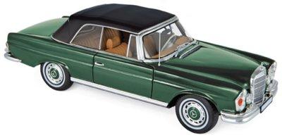 Norev 1:18 Mercedes-Benz 280 SE 3.5 Cabriolet 1969 - Green metallic, deuren .. kunnen open