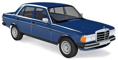 Norev 1:18 Mercedes-Benz 230 1980 - Blue, deuren .. kunnen open