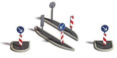 Busch 1:87 set verkeersborden HO bouwpakket ( 2/19)