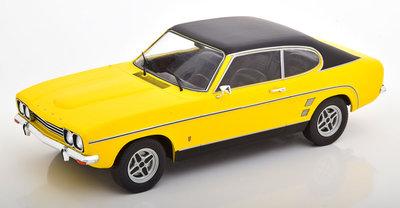 MCG 1:18 Ford Capri 2000 GXL MKi 1973 geel zwart