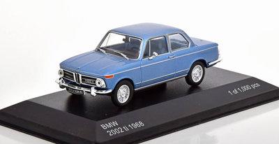 Whitebox 1:43 BMW 2002 ti 1968 blauw metallic