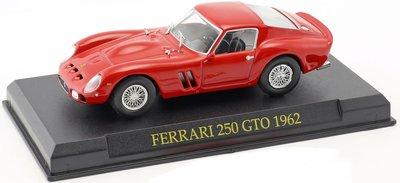 Atlas 1:43 Ferrari 250 GTO 1962 rood, in blister verpakking