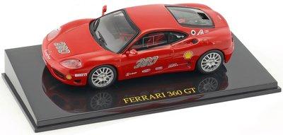 Atlas 1:43 Ferrari 360 GT Challange no 360  rood, in vitrine