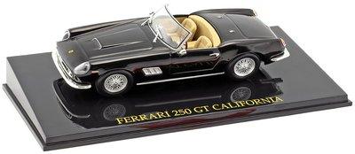 Atlas 1:43 Ferrari 250 GT California Cabriolet zwart, in vitrine