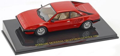 Atlas 1:43 Ferrari Mondial Quattrovalvole 1982 rood, in vitrine