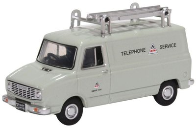 Oxford 1:76 Sherpa Van Telephone Service grijs