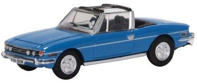 Oxford 1:76 Triumph STAG Cabriolet blauw