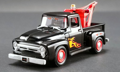 ACME 1:64 Ford F-100 1956 Wrecker Gearz Stacey Davids, black with flames