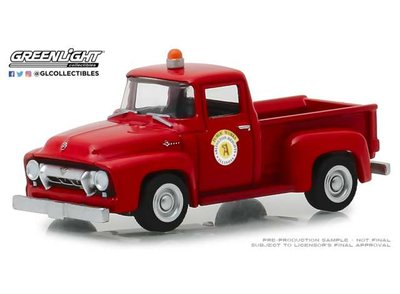 Greenlight 1:64 Ford F-100 Arlington Heights Illinois Public Works Hobby Exclusive red 1954